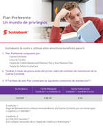 Ofertas de Scotiabank, Plan Preferente