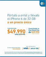 Ofertas de Entel, entel iphone 6