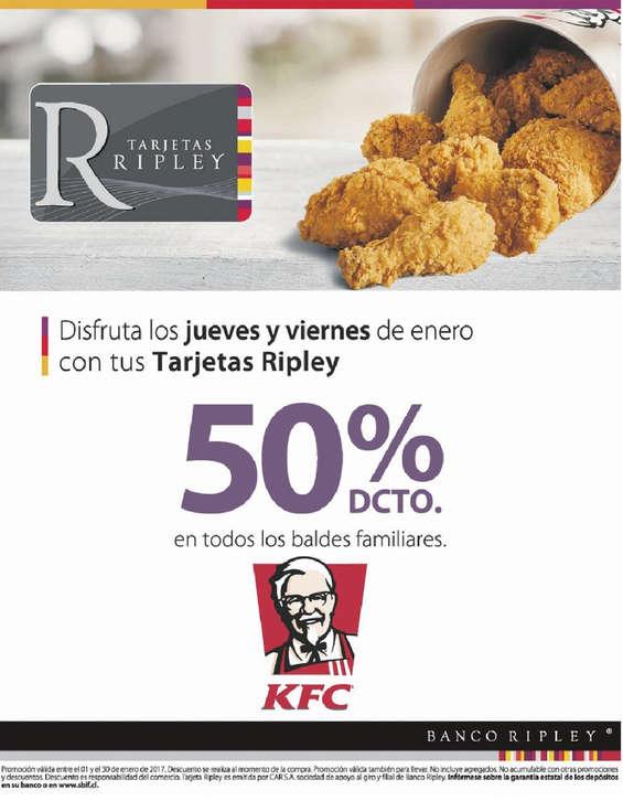 Ofertas de Banco Ripley, Descuentos en KFC