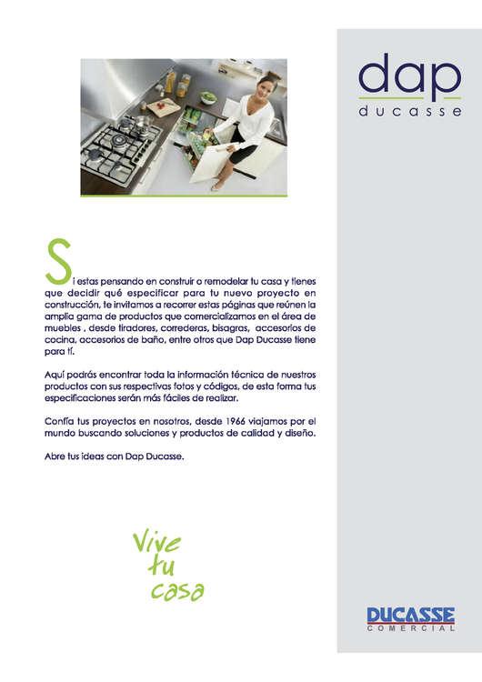 Ofertas de Dap Ducasse, catálogo herrajes para muebles