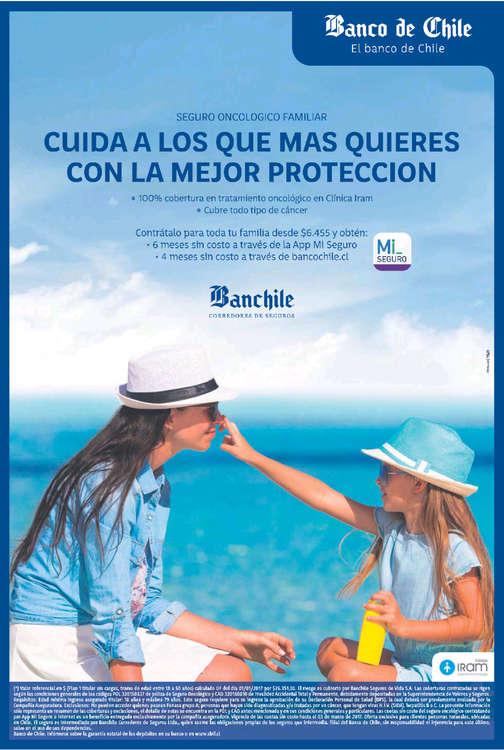 Ofertas de Banco de Chile, cuida a los que más quieres