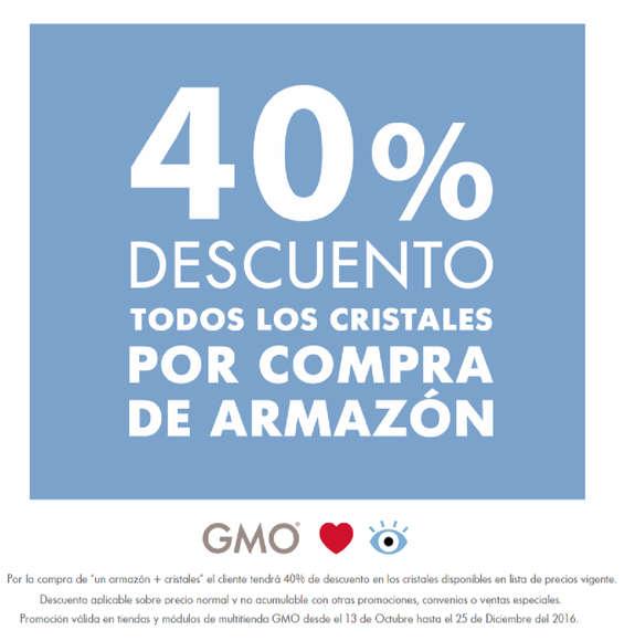 Ofertas de GMO, todos los cristales