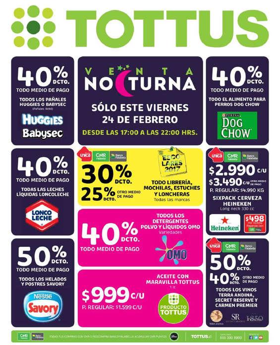 Ofertas de Tottus, venta nocturna