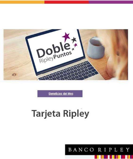 Ofertas de Banco Ripley, beneficios del mes