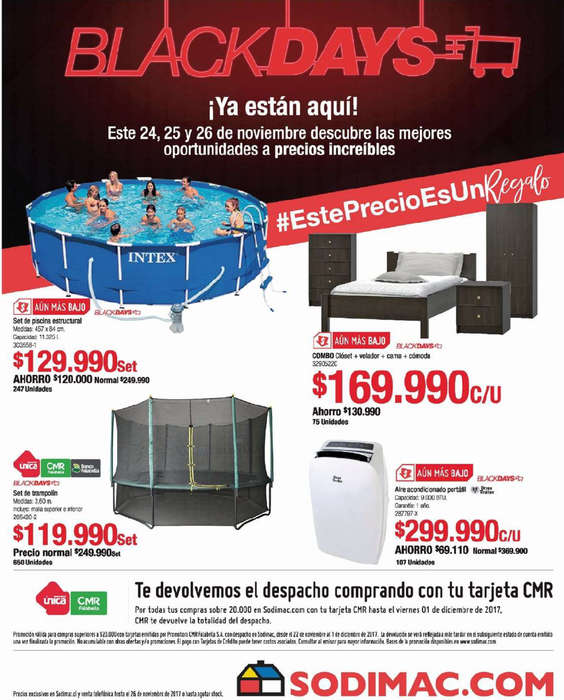 Ofertas de HomeCenter Sodimac, Black Days