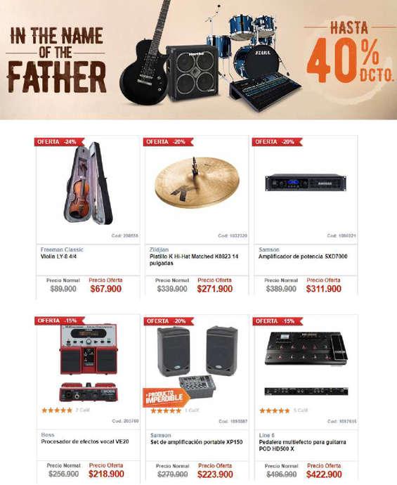 Ofertas de Audiomusica, in the name of the father