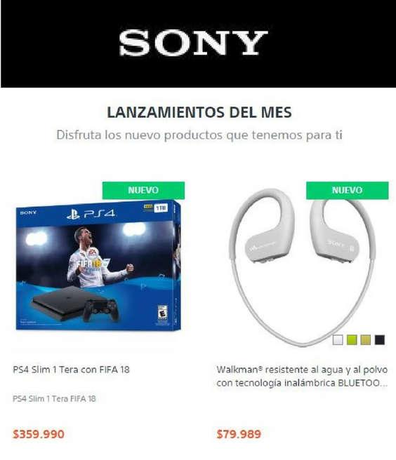 Ofertas de Sony Store, Lanzamientos del Mes