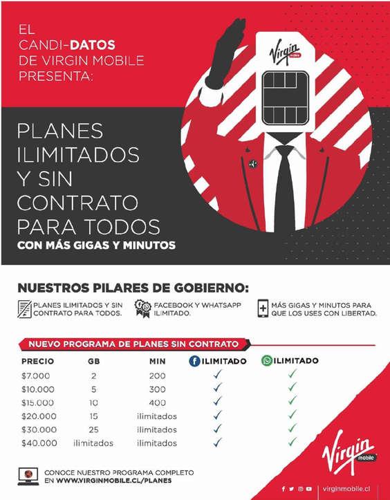 Ofertas de Virgin Mobile, Planes ilimitados y sin contrato