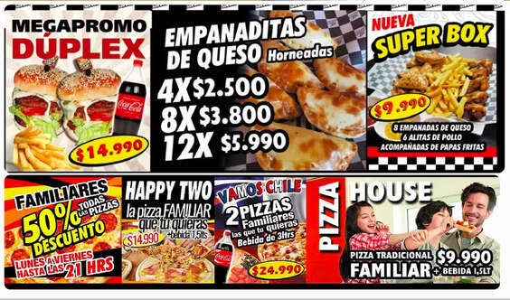 Ofertas de Jhot Pizza, Promos