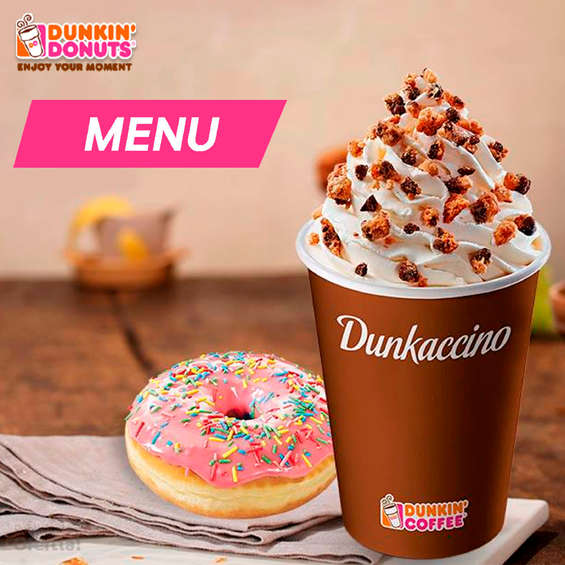 Ofertas de Dunkin Donuts, Menú